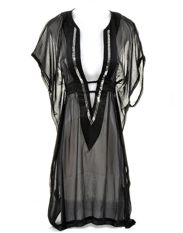 Black Beach Wear Kaftan