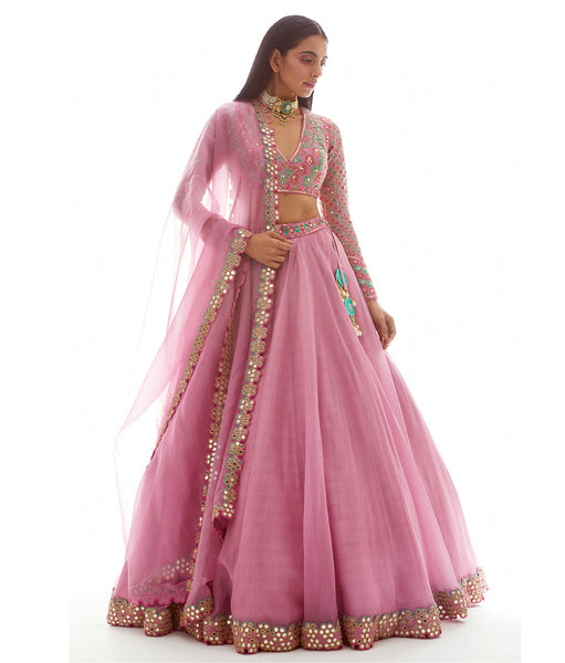 Light Pink Embroidered Lehenga Choli