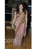Shamita Shetty Onion Pink Saree