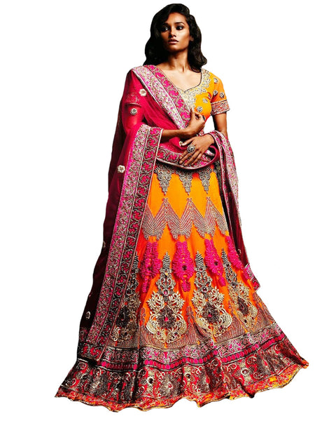 Orange Heavy Lehenga