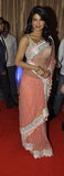 Priyanka Chopra Peach Net Saree
