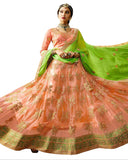 Designer Peach Color Lehenga Choli