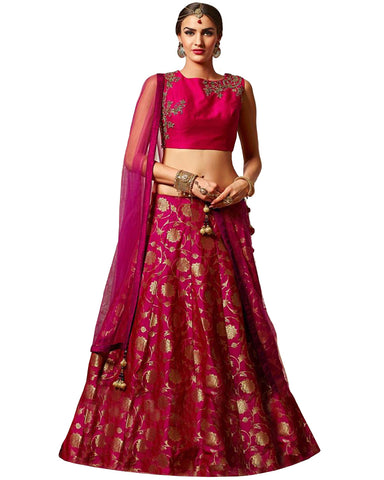 Designer Dark Pink Color Lehenga Choli