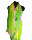 Green Color Gota Patti Saree