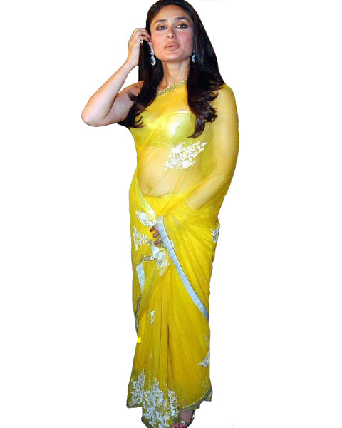 Kareena Kapoor  Light Yellow Saree