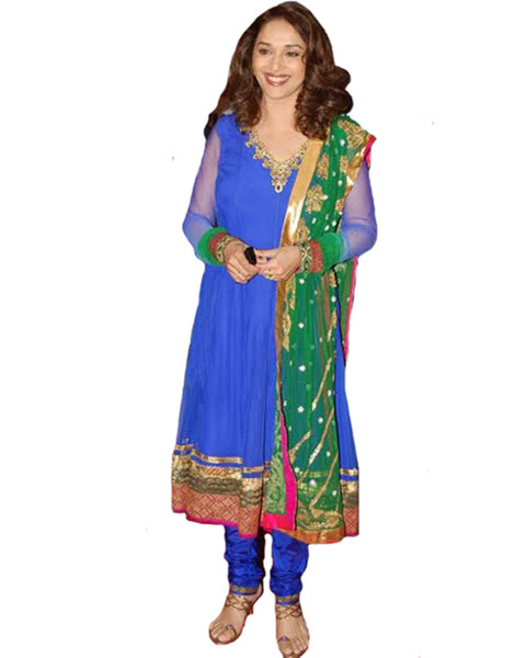 Madhuri Blue Anarkali