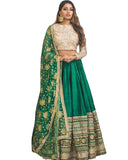 Hit Fency Green Bengalori Sillk Full Embrodari Work Lehenga