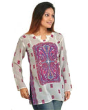 White Georgette Kurties