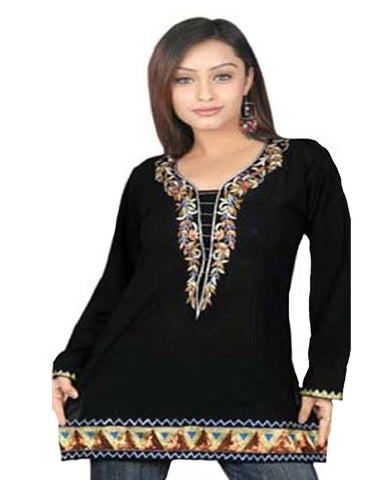 Black Georgette Kurties