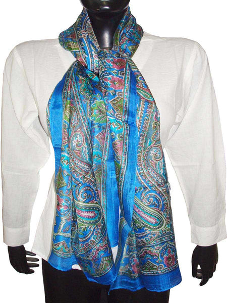 Green Designer Silk Scarves
