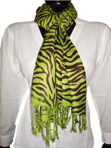 Green Designer Animal Print Stoles