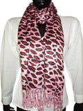 Pink & Brown Designer Animal Print Stoles