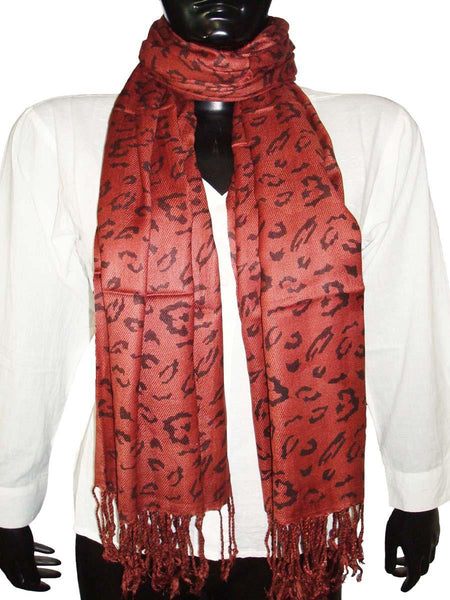 Designer Brown Animal Print Stoles