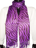 Designer Dark Purpal Animal Print Stoles
