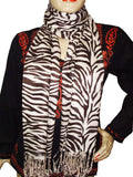 Pink Designer Black Animal Print Stoles