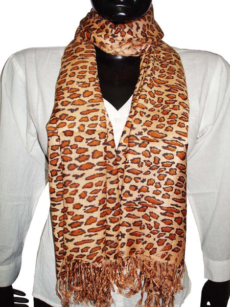 Golden Designer Animal Print Stoles