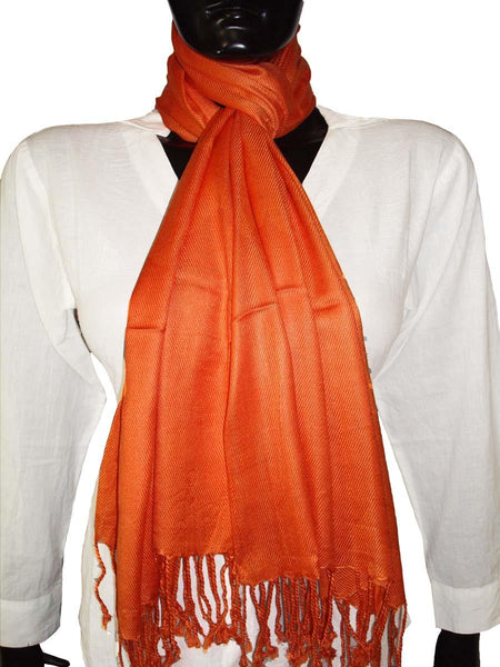 Orange Jamawar Floral Designs Stole