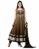 Designer Brown Anarkali Suit