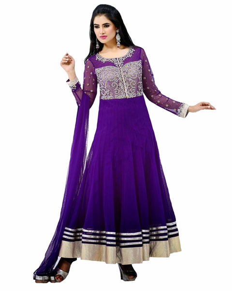 Designer Purple Anarkali Suit