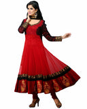 Designer Red Anarkali Suit