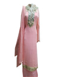Light Pink Designer Gota Patti Suit