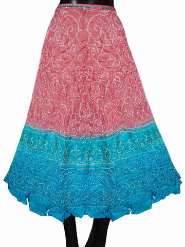 Pink Rajasthani Traditional Skirt