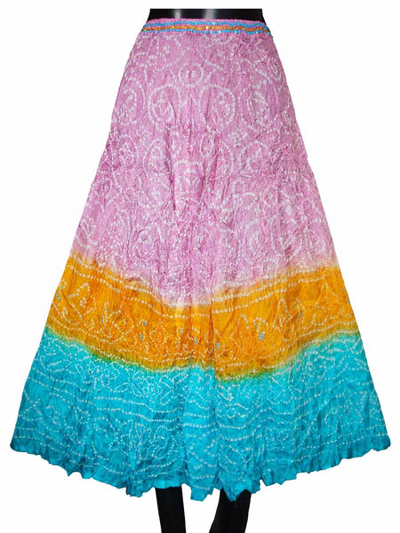 Multi Color Rajasthani Traditional Skirt