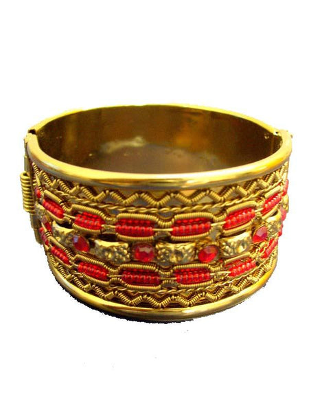 Golden & Red Designer Bracelet