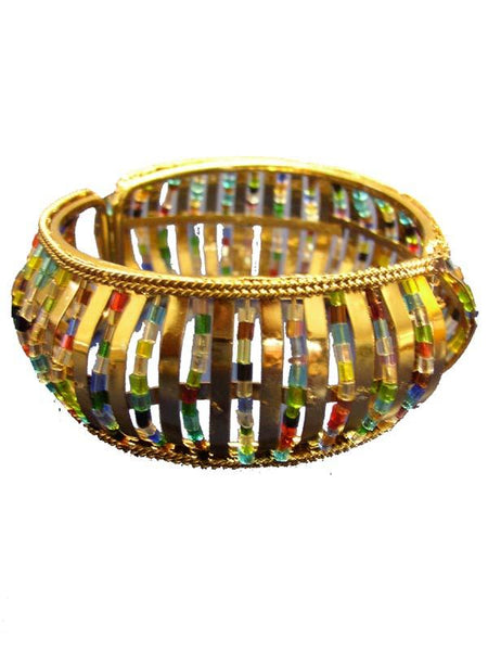 Golden & Multy Color Crystal Stones Bracelet