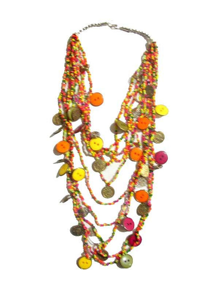 Multy Color Small Beads Necklace