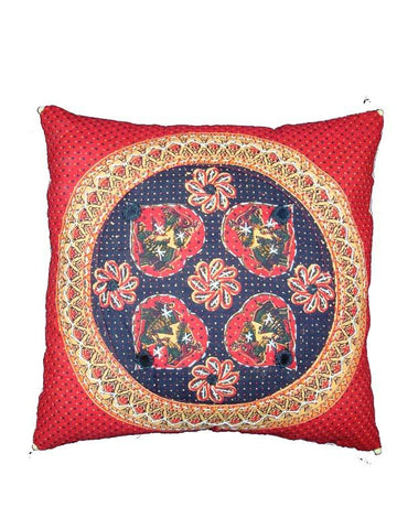 Red Cotton Cushion Cover