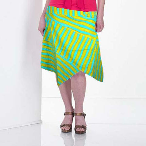 Green & Yellow Cotton Skirt