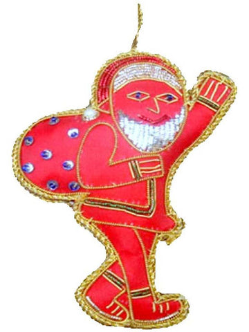 Red Santa X-Mas ornament