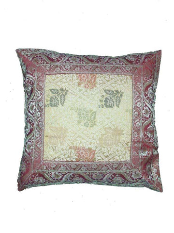 Brown Kashmiri Cushion Cover