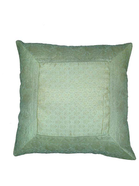Light Green Kashmiri Cushion Cover
