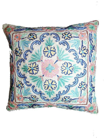 Cream Color Kashmiri Cushion Cover