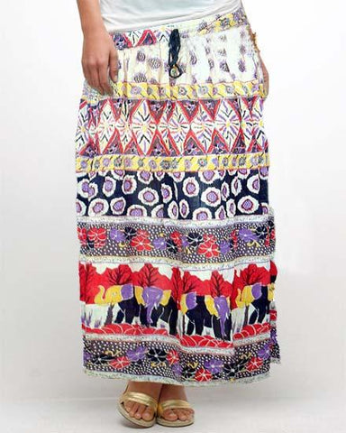 Cotton Rayon Crape Skirt