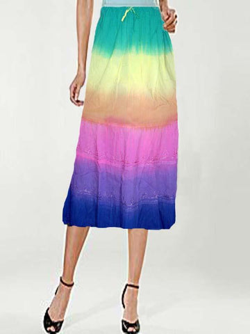 Rainbow Voil Skirt