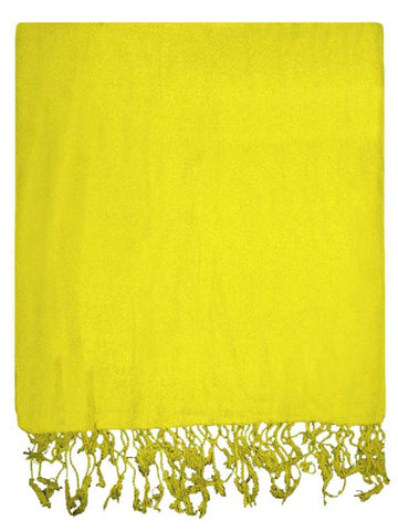 Yellow Viscose Stole