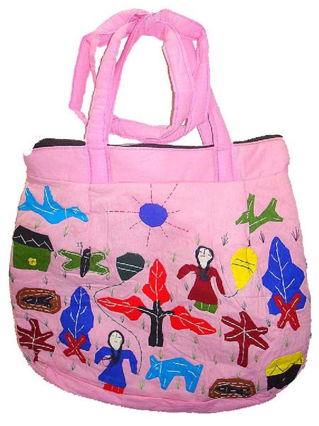 Pink Applique Bag
