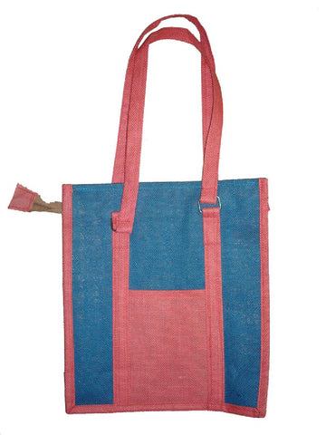 Blue Gujrati Jute Bag
