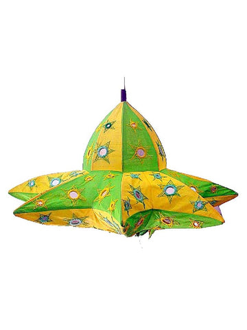 Green & Yellow Lampshades