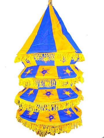 Blue & Yellow Lampshades