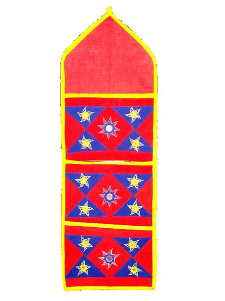 Red Applique Wall Hanging