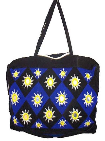 Brlack Applique Shoulder Bag