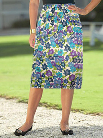Multi-Colour Printed Skirt