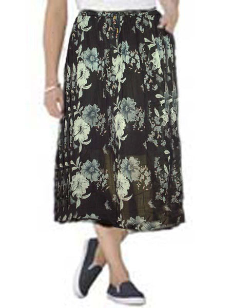 Black Printed Skirt