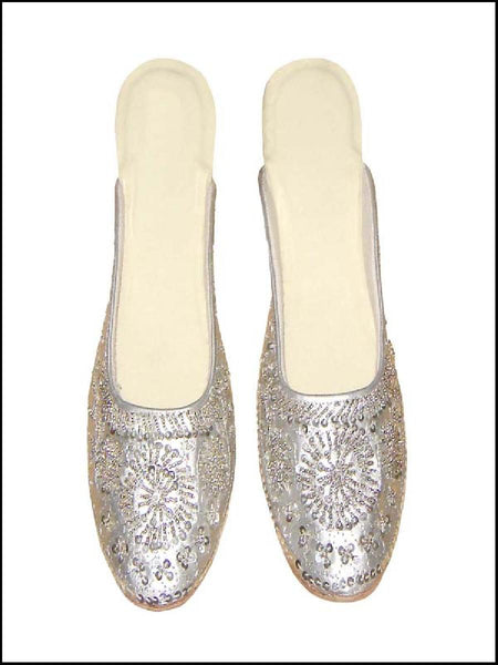White Beaded Jutti