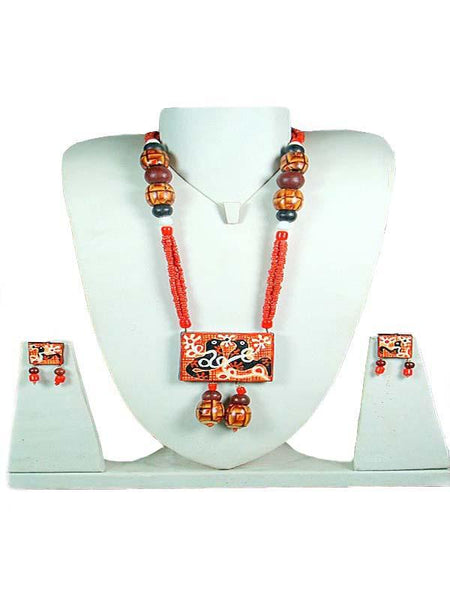 Red Terracotta Jewelry Set