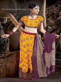 Designer Yellow Lehnga-Choli